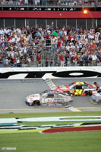 Tony Stewart get the green flag as the for the start of the Sprint Cup Series Coke Zero 400 held at the Daytona International Speedway in Daytona...