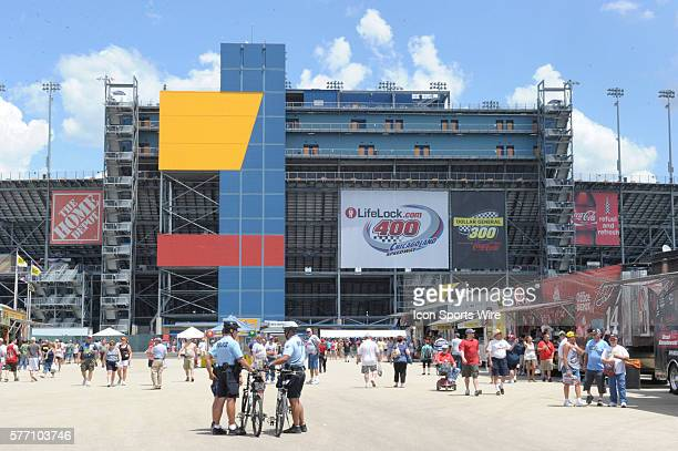 A general view looking from the Midway at the front entrance of the ChicagoLand Speedway Joliet Il
