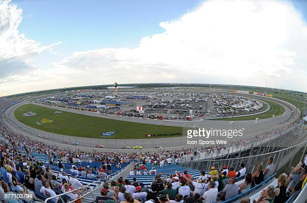 A general view of ChicagoLand Speedway during the first lap's in the NASCAR Sprint Cup Series LifeLockCOM