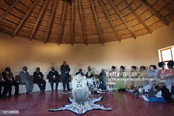President Jacob Zuma and Chief Zwelivelile Mandela leads local residents to Mvezo birthplace of Nelson Mandela to celebrate Mandela�s 92nd birthday...