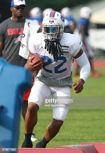Buffalo Bills running back Fred Jackson in action during a practice session of Bills training camp at St John Fisher College in Pittsford NY