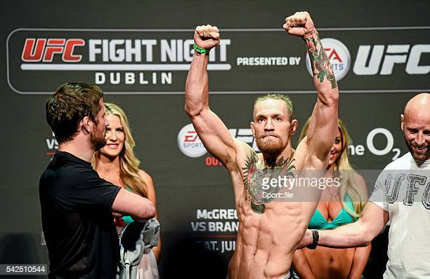 18 July 2014 Conor McGregor in attendance at the UFC Fight Night Dublin WeighIns The O2 Dublin Picture credit Paul Mohan / SPORTSFILE