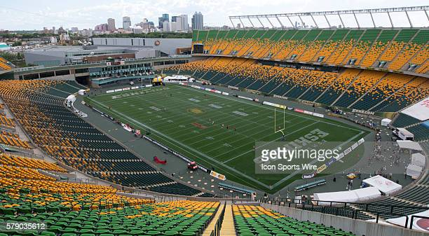 Edmonton Eskimos Commonwealth stadium before play against the Calgary Stampeders at Commonwealth Stadium in Edmonton, Alberta, Canada.