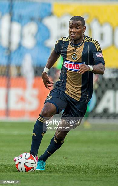 Philadelphia Union midfielder Maurice Edu makes his way down the field during a Major League Soccer match at PPL Park in Philadelphia PA
