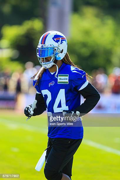Buffalo Bills cornerback Stephon Gilmore during the Buffalo Bills Training Camp at St John Fisher College in Pittsford New York