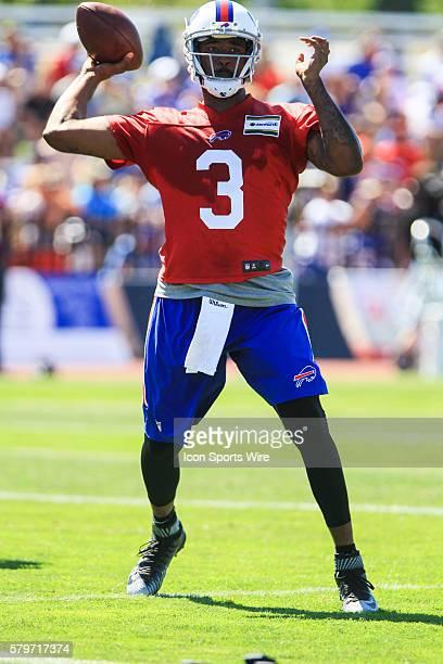 Buffalo Bills quarterback EJ Manuel during the Buffalo Bills Training Camp at St John Fisher College in Pittsford New York
