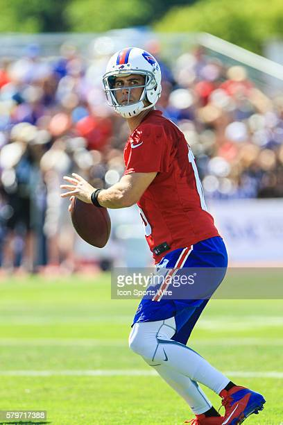 Buffalo Bills quarterback Matt Cassel during the Buffalo Bills Training Camp at St John Fisher College in Pittsford New York