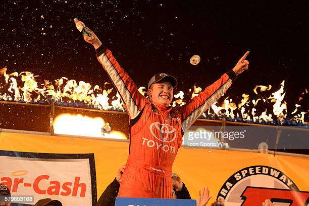 22 July 2015 | Christopher Bell Toyota Certified Used Vehicles Toyota Tundra celebrates in victory lane after winning the NASCAR Camping World Truck...