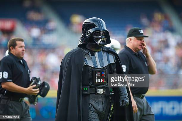 Darth Vader makes an appearance as the members from the Star Wars 501st Legion take over Star Wars night at Turner Filed before a regular season game...