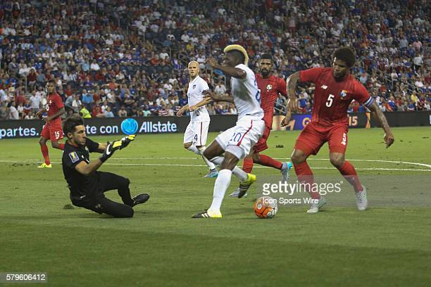 during the CONCACAF Gold Cup Group Stage at Sporting Park Kansas City KS The United States and Panama finished even 11