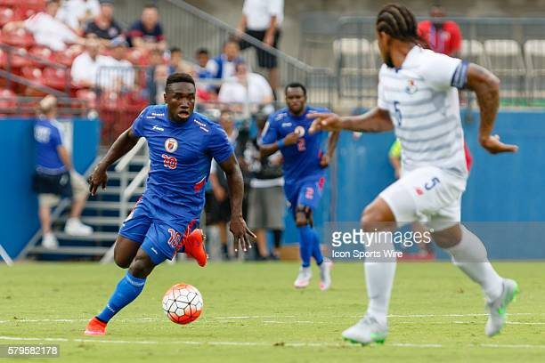Haiti midfielder Jeff Louis during CONCACAF Group A Gold Cup match between Panama and Haiti played at Toyota Stadium in Frisco TX