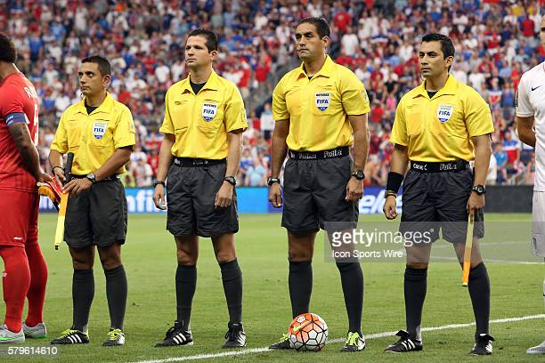 Match officials From left Assistant Referee Alberto Morin Fourth Official Henry Bejarano Referee Roberto Garcia Assistant Referee Leonel Leal The...