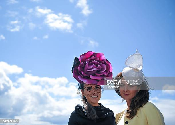 29 July 2015 Racegoers Avila Lipsett left from Rathgar Co Dublin and Louise Lynn from Roscommon enjoy a day at the races Galway Racing Festival...