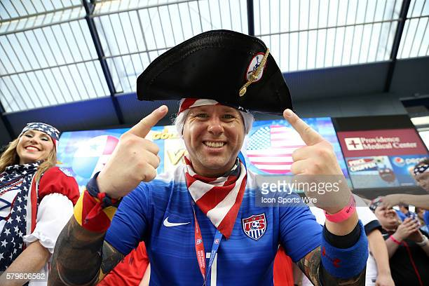 United States fan The United States Men's National Team played the Panama Men's National Team at Sporting Park in Kansas City Kansas in a 2015...
