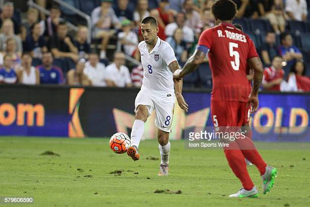 United States forward Clint Dempsey during the CONCACAF Gold Cup Group Stage at Sporting Park Kansas City KS The United States and Panama finished...