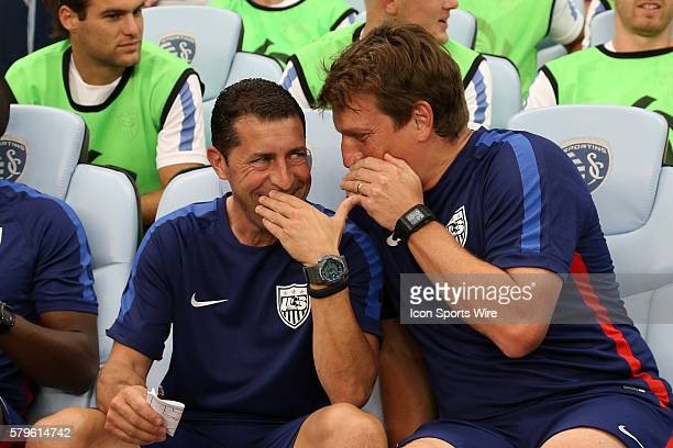 US assistant coaches Tab Ramos and Andreas Herzog The United States Men's National Team played the Panama Men's National Team at Sporting Park in...