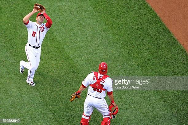Washington Nationals third baseman Danny Espinosa in action at Nationals Park in Washington DC where the Cincinnati Reds defeated the Washington...