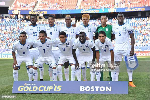 Honduras team poses for a group shot during the CONCACAF Gold Cup game at Gillette Stadium in Foxborough MA