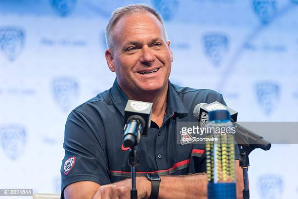 Arizona Wildcats head coach Rich Rodriguez during the 2016 Pac-12 Media Day in Hollywood, CA.