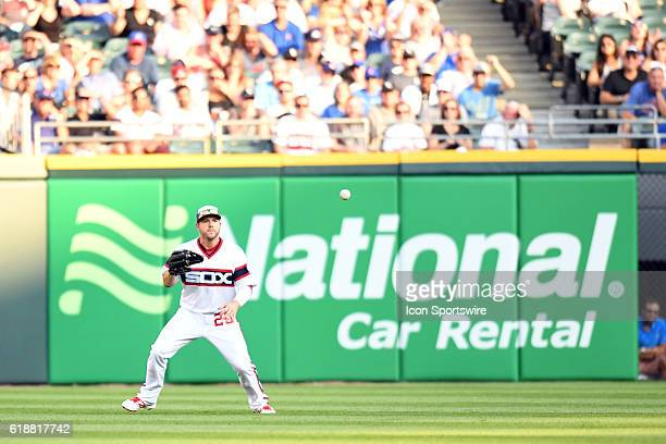Chicago White Sox Outfield JB Shuck [8446] watches the ball during a game between the Chicago Cubs and the Chicago White Sox at US Cellular Field in...