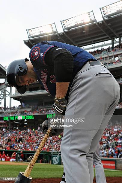 Milwaukee Brewers left fielder Ryan Braun comes into the on deck circle at Nationals Park in Washington DC where the Milwaukee Brewers defeated the...