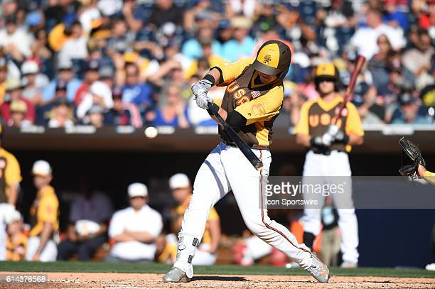 Team USA Chance Sisco hits a home run during the MLB All-Star Futures Game at PETCO Park in San Diego, CA.