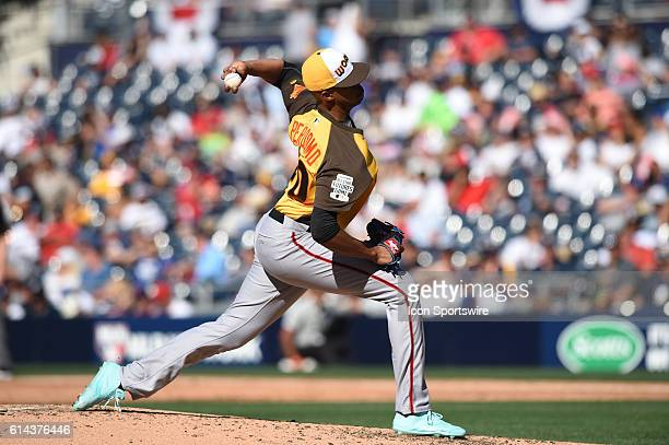 Team World Angel Perdomo during the MLB All-Star Futures Game at PETCO Park in San Diego, CA.