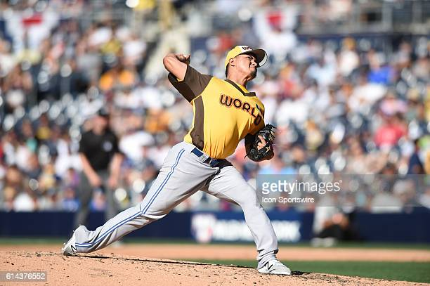 Team World Francisco Rios during the MLB All-Star Futures Game at PETCO Park in San Diego, CA.
