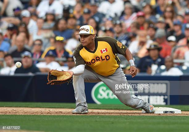 Team World Josh Naylor during the MLB AllStar Futures Game at PETCO Park in San Diego CA