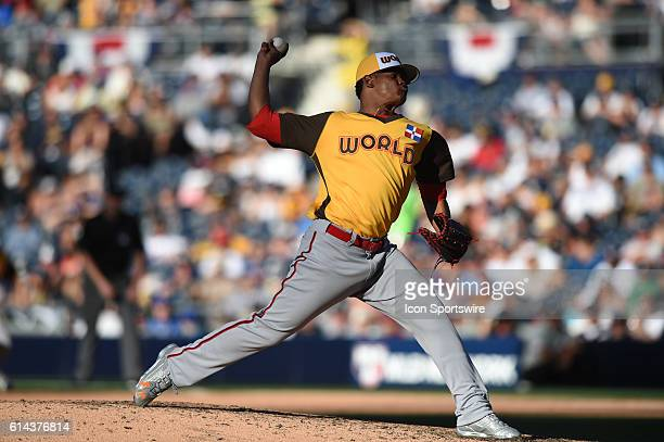 Team World Reynaldo Lopez during the MLB All-Star Futures Game at PETCO Park in San Diego, CA.
