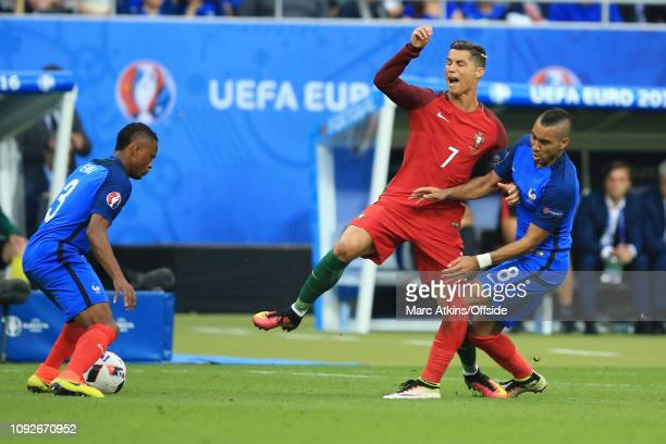 July 2016 - UEFA EURO 2016 Final - Portugal v France - The tackle from Dimitri Payet of France which injures Cristiano Ronaldo of Portugal - .