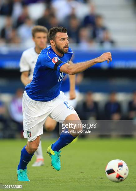 2 July 2016 UEFA EURO 2016 Quarter Final Germany v Italy Andrea Barzagli of Italy