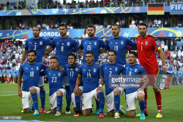 2 July 2016 UEFA EURO 2016 Quarter Final Germany v Italy The Italy Starting lineup Giorgio Chiellini Graziano Pelle Andrea Barzagli Leonardo Bonucci...