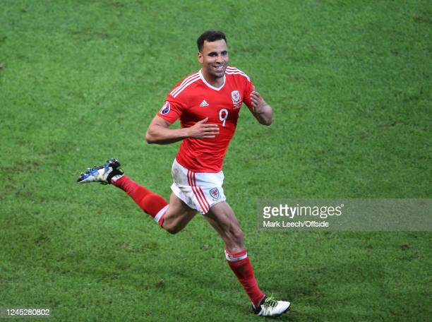 01 July 2016 UEFA Euro 2016 Wales v Belgium Hal RobsonKanu celebrates the second goal for Wales