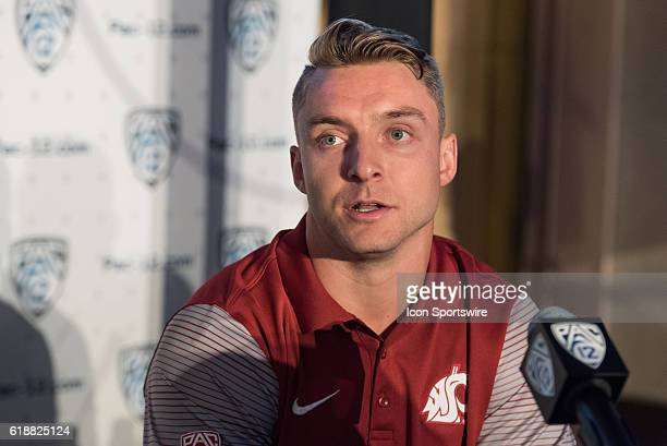 Washington State Cougars linebacker Parker Henry during the 2016 Pac12 Media Day in Hollywood CA