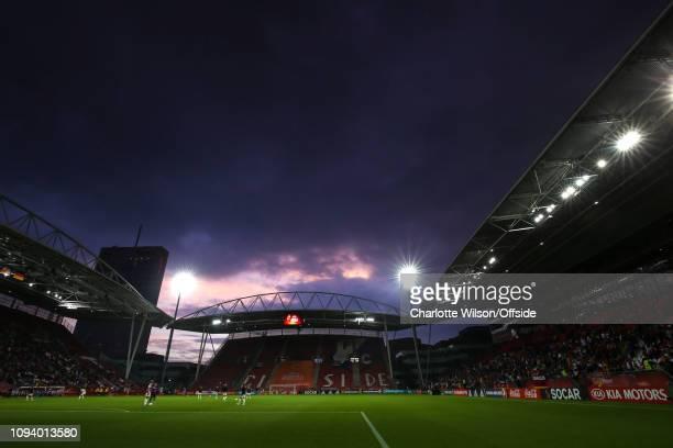 24 July 2017 UEFA Womens EURO 2017 Russia v Germany A general view of Galgenwaard stadium under an evening sky