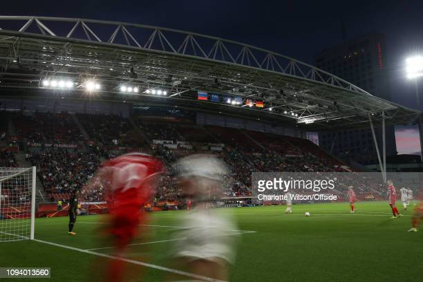 24 July 2017 UEFA Womens EURO 2017 Russia v Germany An abstract view of corner kick action at the Galgenwaard stadium