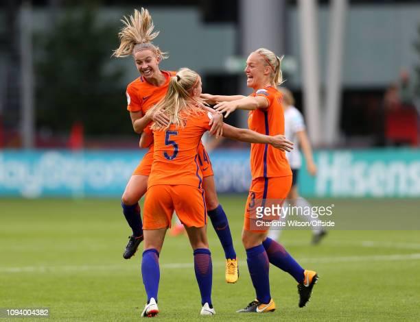 July 2017 - UEFA Womens EURO 2017 - The Netherlands v Norway - Jackie Groenen of Netherlands Women, Kika van Es of Netherlands Women and Stefanie Van...