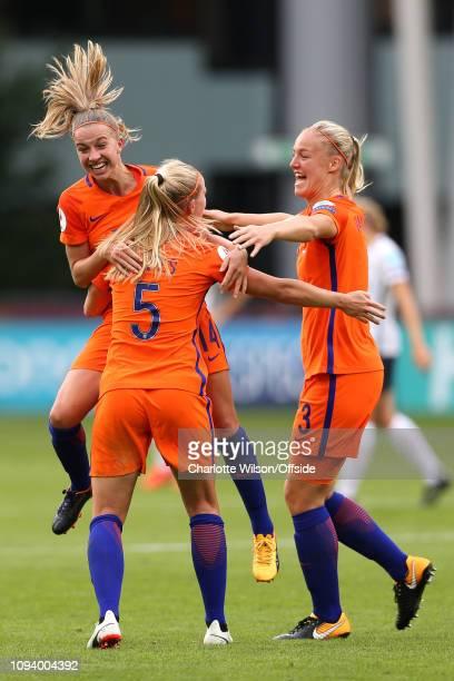 16 July 2017 UEFA Womens EURO 2017 The Netherlands v Norway Jackie Groenen of Netherlands Women Kika van Es of Netherlands Women and Stefanie Van Der...