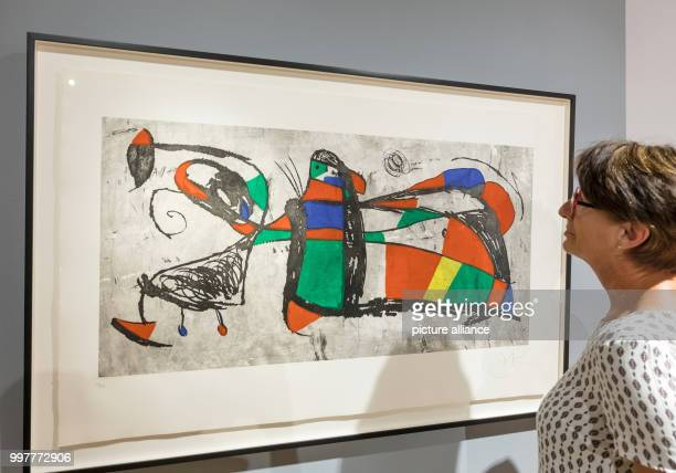 The etching Tres Joan can be seen at the exhibition Joan Miro Poetic Worlds 71 large and small format art works by the artist Miro will be shown at...