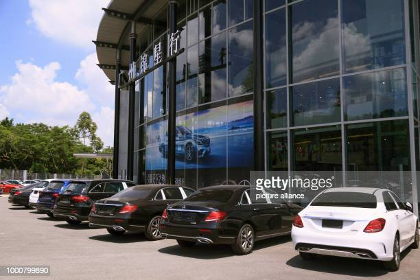 C Class and E Class new cars are parked at a car dealership of MercedesBenz Photo Wenjun Chen/dpa