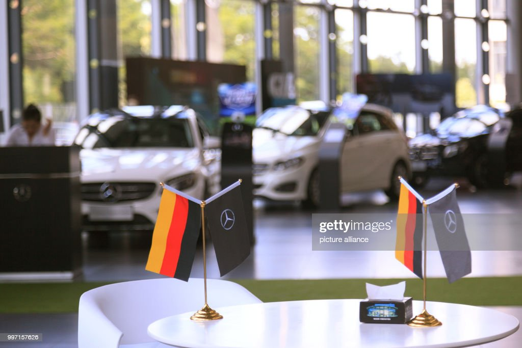 German Flags In A MercedesBenz Car Showroom In Guangzhou Mercedes - Car show flags