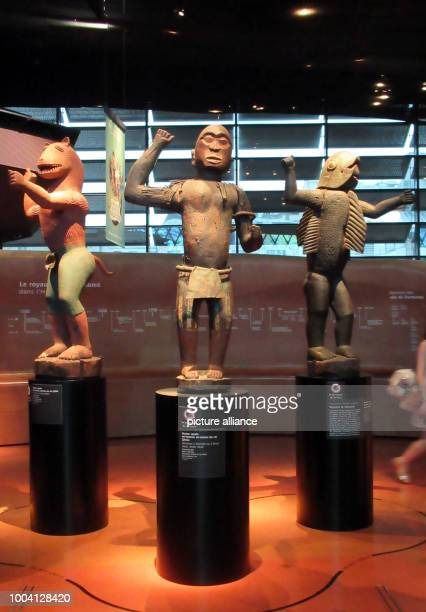 Large royal statues of the Kingdom of Dahomey from the years 18901892 in the Musée du quai Branly Jacques Chirac Dahomey was a west African kingdom...