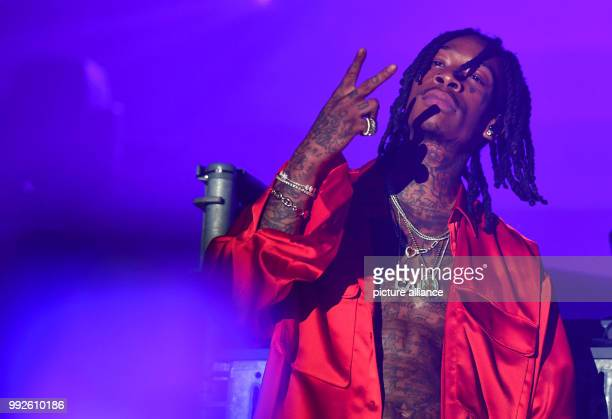 Wiz Khalifa American rapper performing after the presentation of the HUGO mens and womens Spring/Summer 2019 collection at the Motorwerk Weissensee...