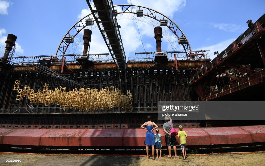 Coking plant Zollverein Coal Mine Industrial Complex : News Photo