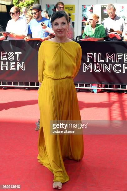 Actress Meret Becker arriving barefoot to the CineMerit Gala Photo Felix Hörhager/dpa