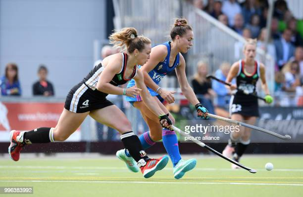 Hockey WomensFour Nations Cup Germany vs Argentina 1st matchdayNike Lorenz of Germany and Julieta Jankunas of Argentina vie for the ball Germany...