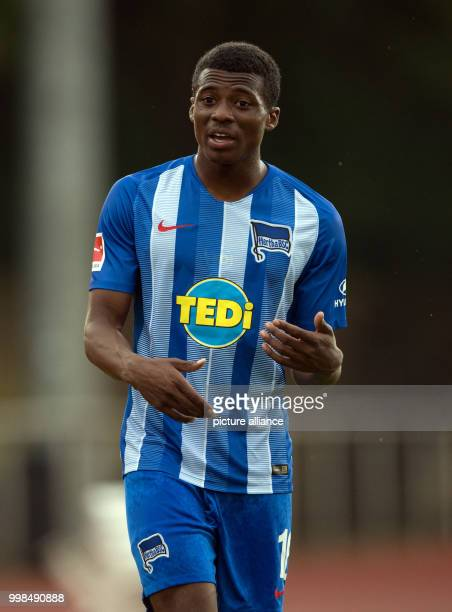 Test match Hertha BSC vs Dukla Prague Hertha's Javairo Dilrosun in action Photo Soeren Stache/dpa
