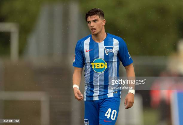 Test match Hertha BSC vs Dukla Prague Hertha's Nikos Zografakis in action Photo Soeren Stache/dpa
