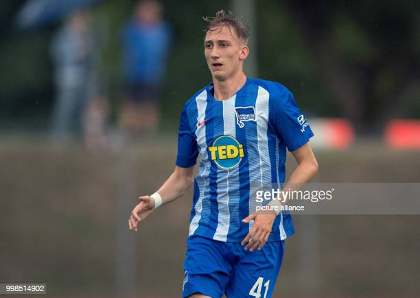 Test match Hertha BSC vs Dukla Prague Hertha's Florian Krebs in action Photo Soeren Stache/dpa